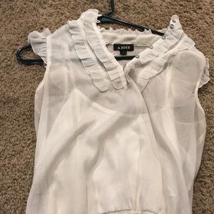 Women's A. Byer White Top